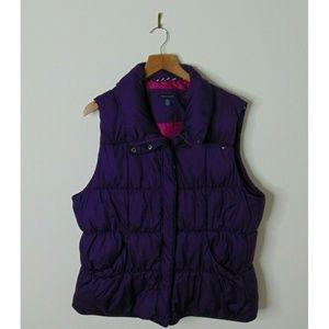 Tommy Hilfiger XXL Full Zip Purple Puffer Vest